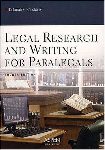 Legal Research and Writing for Paralegals 9780735551053