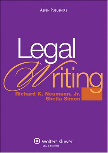 Legal Writing 9780735564244