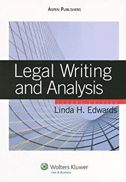Legal Writing and Analysis 9780735562295
