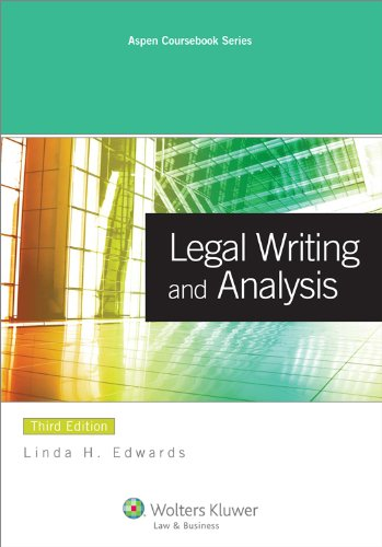 Legal Writing and Analysis 9780735598508