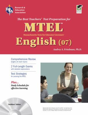 MTEL English (07): TestWare Edition [With CDROM] 9780738605401
