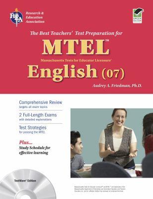 MTEL English (07): TestWare Edition [With CDROM] 9780738605401