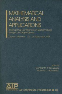 Mathematical Analysis and Applications: International Conference on Mathematical Analysis and Applications 9780735403284