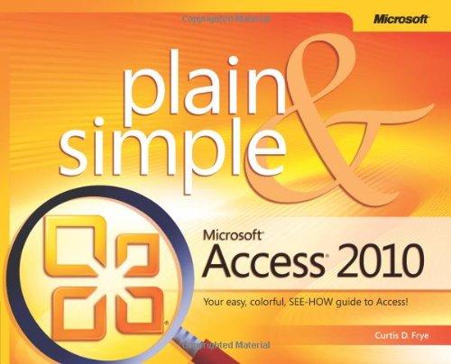 Microsoft Access 2010 Plain & Simple 9780735627307