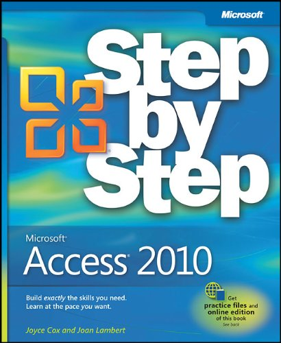 Microsoft Access 2010 Step by Step 9780735626928