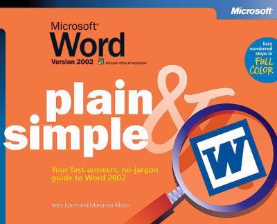 Microsoft Word Version 2002 Plain & Simple 9780735614505