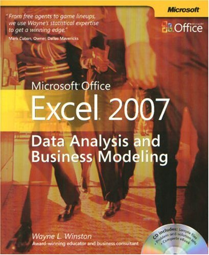 Microsoft Office Excel 2007: Data Analysis and Business Modeling: Data Analysis and Business Modeling 9780735623965
