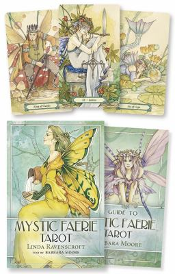 Mystic Faerie Tarot Cards [With 312 Page Book and 78 Card Deck and Gold Organdy Tarot Bag] 9780738709215