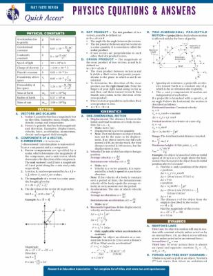 Physics Equations & Answers 9780738607443