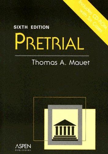 Pretrial [With CDROM]