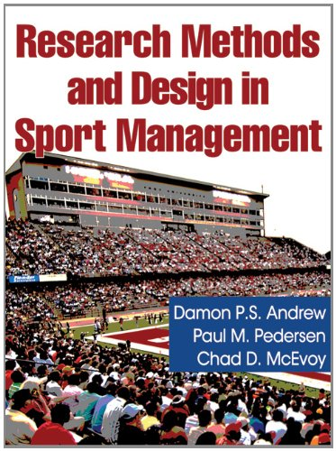 Research Methods and Design in Sport Management 9780736073851