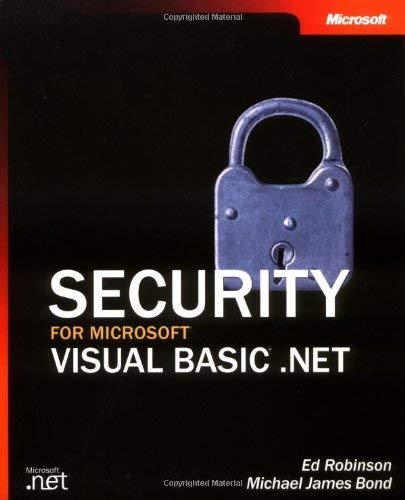 Security for Microsoft Visual Basic .NET 9780735619197