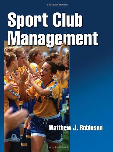 Sport Club Management 9780736075961
