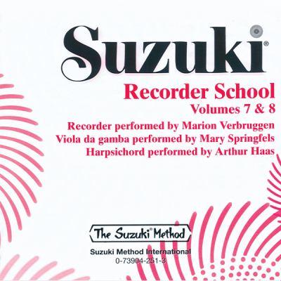 Suzuki Recorder School, Volumes 7 & 8 9780739042519