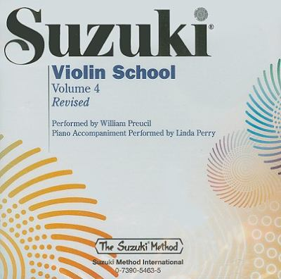 Suzuki Violin School, Volume 4 9780739054635