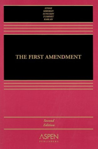 The First Amendment 9780735529298