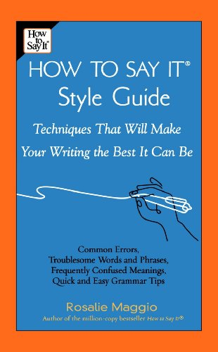 The How to Say It: Style Guide 9780735203136