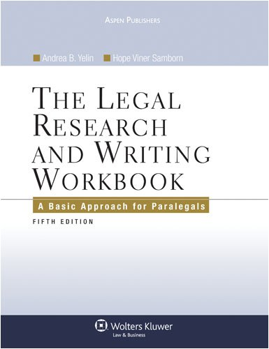 The Legal Research and Writing Workbook, Fifth Edition 9780735567412