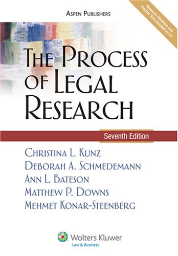 The Process of Legal Research [With CDROM] 9780735569775