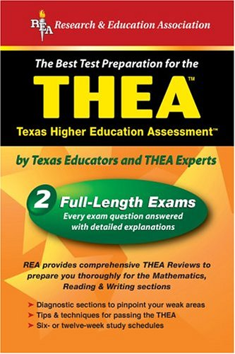 Thea (Rea) - The Best Test Prep for the Texas Higher Education Assessment 9780738600376