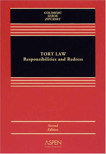 Tort Law: Responsibilities and Redress [With CDROM] 9780735565609