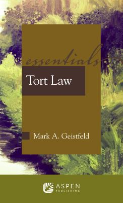 Tort Law: The Essentials 9780735568280
