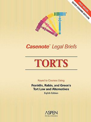 Torts: Keyed to Courses Using Franklin, Rabin, and Green's Tort Law and Alternatives 9780735561687