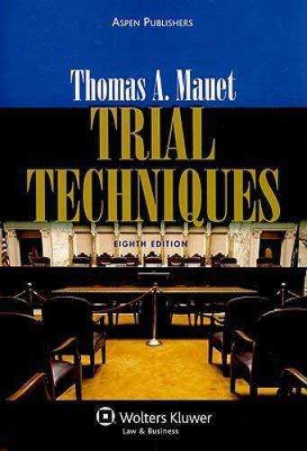 Trial Techniques 9780735594418