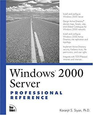 Windows 2000 Server Professional Reference 9780735709522