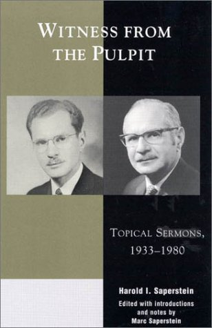 Witness from the Pulpit: Topical Sermons, 1933-1980 9780739102596