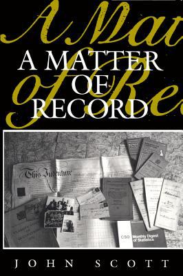 A Matter of Record 9780745600307