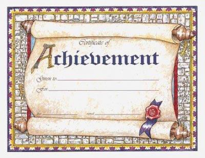 Certificate of Achievement 9780742403611