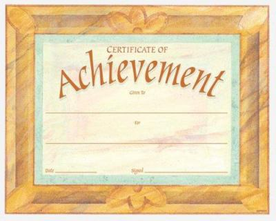 Certificate of Achievement Fit-In-A-Frame Award 9780742403437