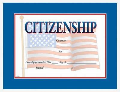 Citizenship Award Certificate 9780742403260