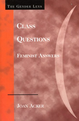 Class Questions: Feminist Answers 9780742546301
