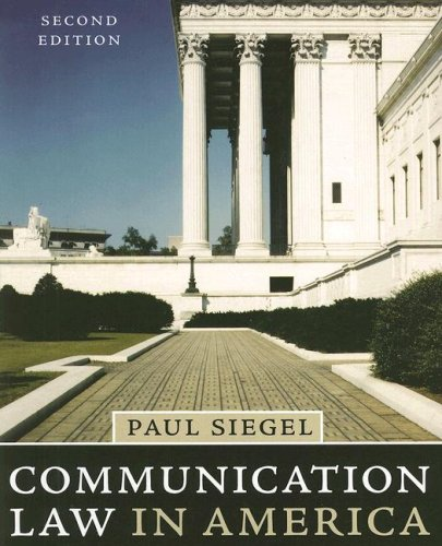 Communication Law in America 9780742553873