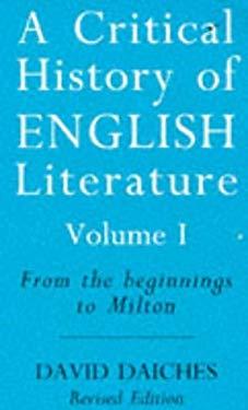 Critical History of English Literature Vol.1
