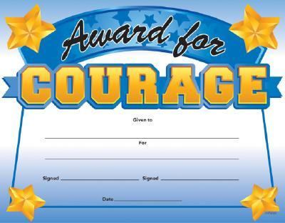 Fit-In-A-Frame Award for Courage 9780742416918