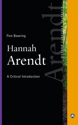 Hannah Arendt: A Critical Introduction 9780745331416
