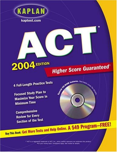 Kaplan ACT 2004 [With CDROM] 9780743240949