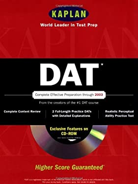 Kaplan DAT [With CDROM] 9780743201858