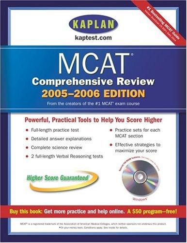Kaplan MCAT Comprehensive Review 2005-2006 [With CDROM] 9780743266154