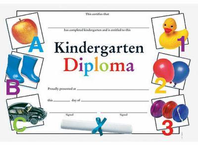 kindergarten diploma fit in a frame award by instructional fair