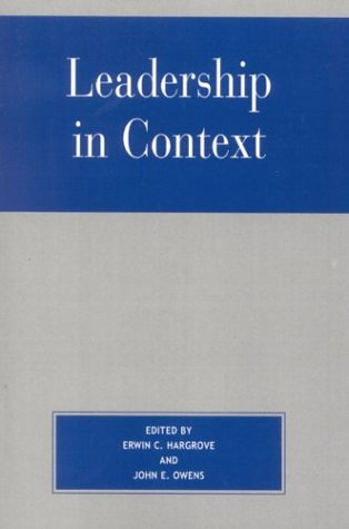 Leadership in Context 9780742528536