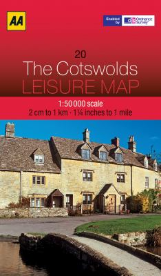 AA: The Cotswolds Leisure Map 9780749573027