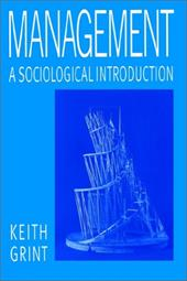 Management Management Management Management A Sociological Introduction a Sociological Introduction a Sociological Introduction a