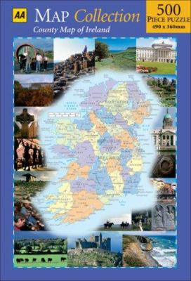 Map Collection: Country Map of Ireland: 500 Piece Puzzle 490 X 360mm