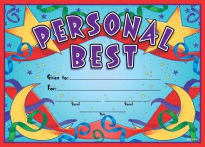 Personal Best Fit-In-A-Frame Award 9780742403512