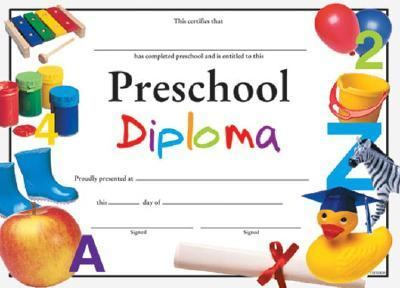 Preschool Diploma Fit-In-A-Frame Award 9780742403451