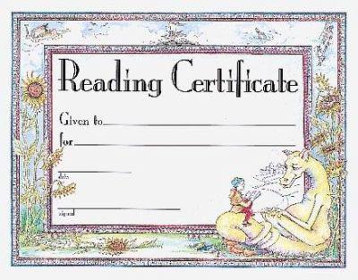 Reading Award Certificate 9780742403239